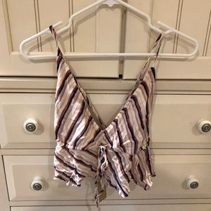 American Eagle Striped Crop Top